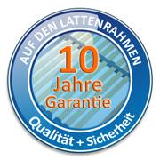 Wir geben 10 Jahre Garantie auf den Lattenrost, näeheres dazu finden Sie in unserer Garantieerklärung!