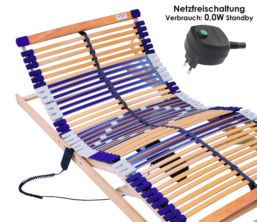 a federholzrahmen lattenrost motor elektrisch 44 leisten buche